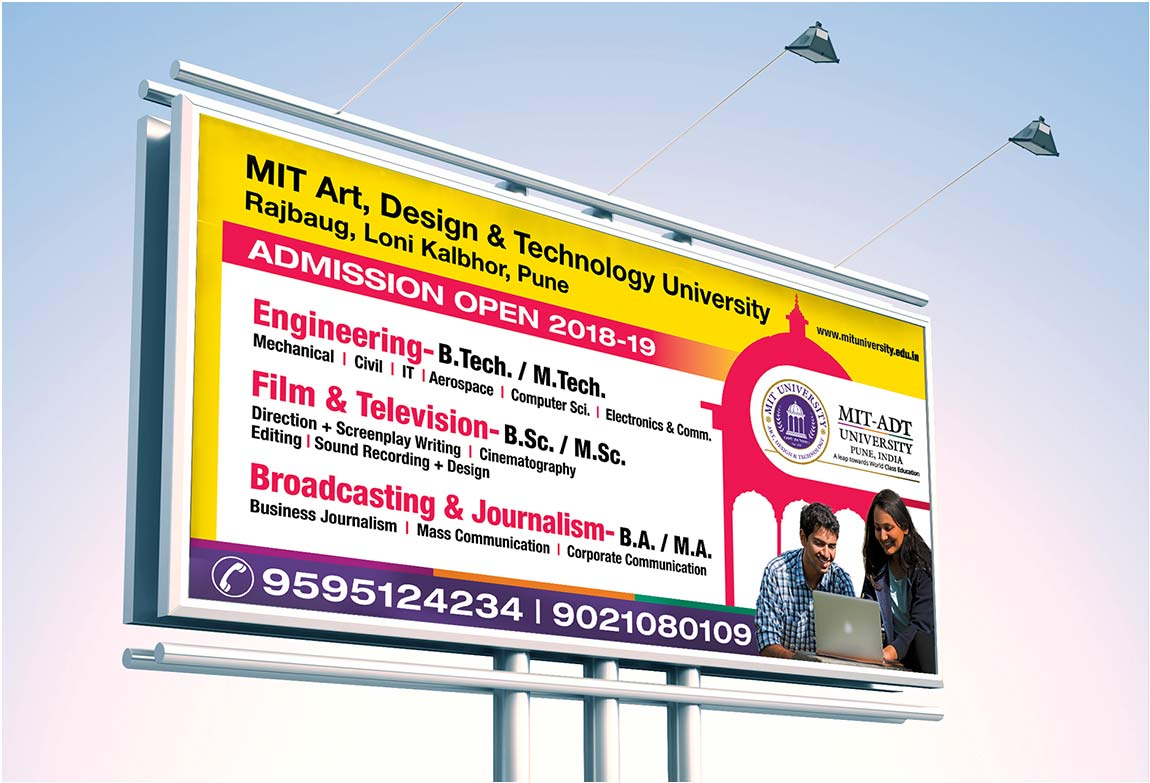 MIT-ADT | Stationery | Logo | Event Design | Hoarding | Identity Card | Year Book | Newspaper Ad | Outdoor  Ad Made By Admonkks