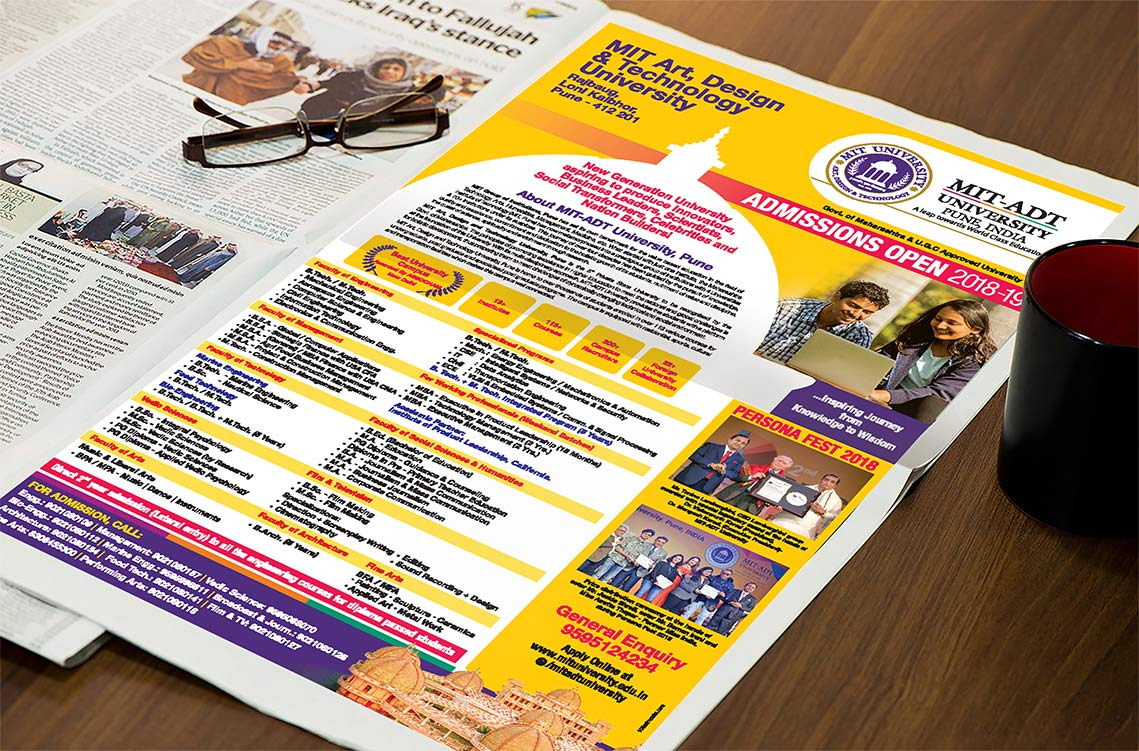 MIT-ADT | Stationery | Logo | Event Design | Hoarding | Identity Card | Newspaper Ad Made By Admonkks