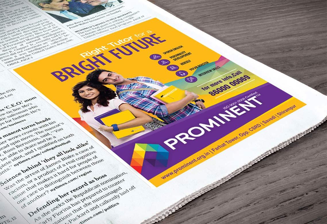 Newspaper Advertising | Outdoor Advertising  | Logo Design | Leaflet Design | Newspaper Advertising | Pole Kiosk | Prominant | Admonkks Media Agency